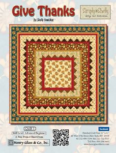 Give Thanks- Quilt 1 by Shelly Comiskey of Simply Shelly Designs