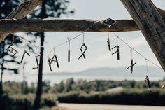 Viking wedding runes garland