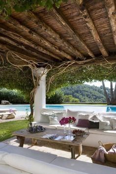 Pool and Patio in Villa Gracia, Ibiza, Spain
