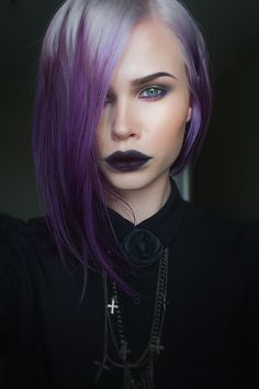 loving this color...her lips are creeping me out. I'm okay with black lips but they added too much to this poor girl.