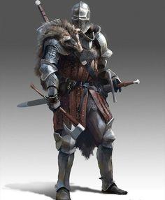 m Fighter Hvy Armor Helm Cloak Axe Sword 2 Handed Sword