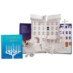 ROBERT SABUDA: CHANUKAH LIGHTS POP-UP BOOK - DELUXE ED. (SIGNED)