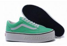 e4c530d6258ce0 Vans Old Skool Platform Green Classic Womens Shoes Christmas Deals Z43DrA