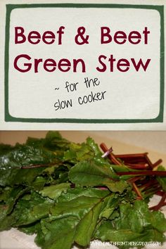 beef and beet green stew | Divine Health