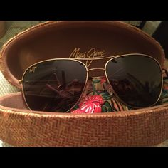 Simplifying my life. Brand new Maui Jim sunglasses. Worn once, never dropped, perfect condition. Never cleaned with anything other than sunglass cleaner and microfiber cloth. Maui Jim Accessories Sunglasses