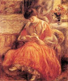 Leitura ou Retrato de Misia Sert Godebska,1904 Auguste Renoir (França, 1841-1919) óleo sobre tela Museu de Arte de Tel Aviv, Israel...