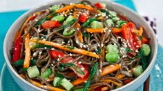 Empowered Noodle Bowl with Orange-Maple Miso Dressing | Steven and Chris | This fresh and easy soba noodle bowl from Oh She Glows Angela Liddon will have you feeling energized.