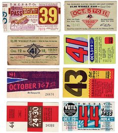 #vintage #graphicdesign bus passes