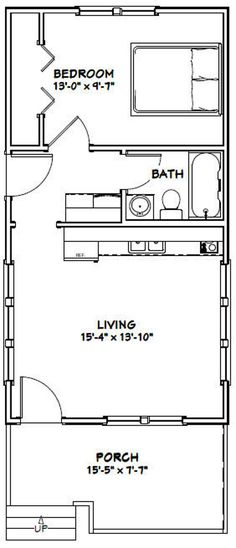 Tiny House Layout, House Layouts, Tiny House Design, The Plan, How To Plan, 1 Bedroom House Plans, 20x30 House Plans, Br House, Small House Floor Plans