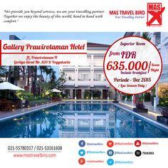 Tidur di Gallery Prawirotaman Hotel Yogyakarta Mulai Dari Rp 635.000/Malam , Mau ? Pesan Sekarang Juga !