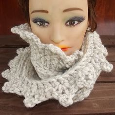 Crochet Scarf Crochet Infinity Scarf Chunky Scarf Infinity Chunky Cowl Scarf Crochet Cowl Scarf Chunky Wool Scarf in Wheat LAUREN 50.00 USD by #strawberrycouture on #Etsy - MUST SEE!