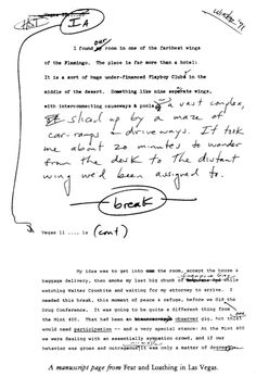 theparisreview:    A manuscript page from Hunter S. Thompson's Fear and Loathing in Las Vegas.