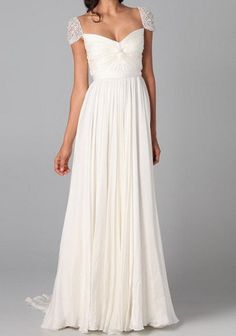 Lace Sleeve wedding dress bridal gown white / by loveBaby2015, $129.00