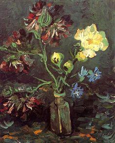 bofransson:Vincent van Gogh -1886 Vase with Myosotis and Peonies