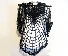 This so makes me wish I could crochet, :(  Spiderweb Cardigan/ Jacket One Size