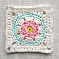 Crochet Pattern Tutorial Flower Square ENGLISH door ColornCream