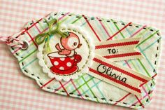 I love seeing what you make and I've already been inspired by your creations. Christmas Sewing, Christmas Tag, Christmas Crafts, Xmas, Fabric Tags, Fabric Scraps, Diy Craft Projects, Sewing Projects, Idee Diy