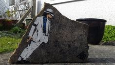 Michael Jackson Art UK street artist JPS has created a series of small and large-scaled artworks in corners and unexpected places.