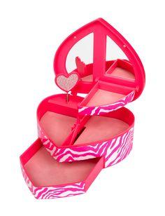 Heart Zebra Jewelry Box | Organization | Room Accessories | Shop Justice