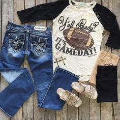 """Football season is ALMOST here! Are y'all ready??  #GameDay #Tee $26.99 S-2X #RockRevival #Semak #Jeans $149.99 24-32 #BedStu #Diaz #Sandals $104.99 6, 8-11 #PinkPanache #Earrings $36.99 #Tank $9.99 We #ship! Call us today! 903.322.4316 #shopdcs #instashop #instafashion #shopdavis #shoplocal #love"" Photo taken by @daviscountrystore on Instagram, pinned via the InstaPin iOS App! http://www.instapinapp.com (07/07/2015)"
