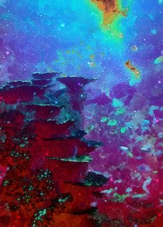 The Glimmering Deep, by Wendy J. St. Christopher -  Magical, underwater abstraction, created from an original photograph.