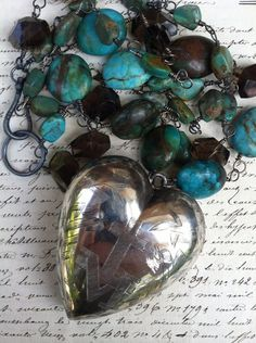 FRENCH+RELIQUARY++Terrific+Silver+Ex+Voto+Necklace+by+DRAMAJEWELRY,+$395.00