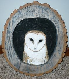 Owl wood carving. by DJKProducts on Etsy, $180.00