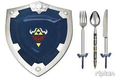 Zelda themed dinnerware <---Cause I've always wanted to stab my food with the Sword of Evils Bane The Legend Of Zelda, Nintendo, Things To Buy, Things I Want, Stuff To Buy, Nerdy Things, Gamers, Take My Money, Link Zelda