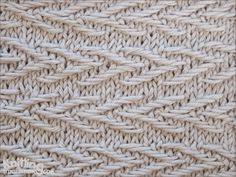 Jacquard stitch pattern is interesting to knit and to look at,without being too challenging to knit