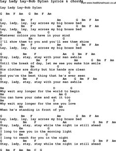 lay lady lay lyrics Love Lyrics for Lay Lady Lay-Bob Dylan with chords for Ukulele, Guitar . Bob Dylan Lyrics, Dylan Songs, Great Song Lyrics, Guitar Chords And Lyrics, Acoustic Guitar, Easy Ukulele Songs, Online Guitar Lessons, Music Lessons, Country Music Lyrics