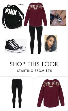 """Untitled #167"" by veronicabrooks1 ❤ liked on Polyvore featuring Peace of Cloth, Victoria's Secret and Converse"