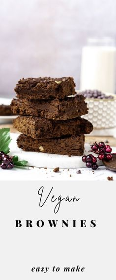 The best vegan brownie recipe. It's healthy, easy to make, and egg-free. Make these homemade brownies for your next kid's party, holiday gathering, or Valentine's day. See the step-by-step instructions. #veganBrownies Best Vegan Brownies, Homemade Brownies, Latest Recipe, Egg Free, Brownie Recipes, Group, Healthy, Board, Party