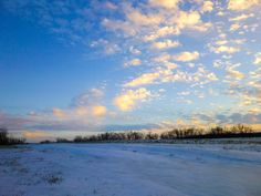 Snowy sunsets can have the courage to be warmly vivid. www.dorymaguirephotography.com