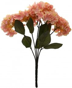 Artificial Polyester Hydrangea Bouquet (24 cm x 24 cm x 54cm, peach)