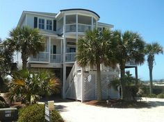 6 bedroom/7 bath home in Ocean Isle Beach, NC…..no way, OIB has a house like this?! How did I never see it on my yearly trips to this beach?! I will now be looking for big, beautiful homes when we go in September!!