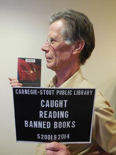 Caught reading #bannedbooks @cspl