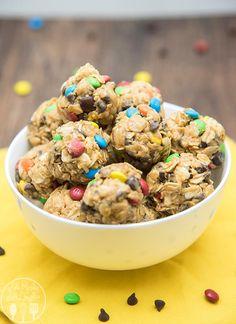 Best monster-cookie-granola-bar-bites