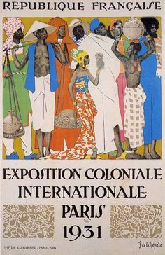 Advertisement for a racist exhibition held in Paris where people of color from around the world were put on display