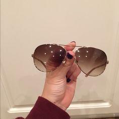 Kate Spade Aviator Sunglasses Almost brand new Kate Spade Aviator Girl's sunglasses. kate spade Accessories Sunglasses