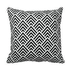 Shop Elegant Black and White Chevron Geometric Pattern Throw Pillow created by VillageDesign. Black White Rooms, Black And White, White Room Decor, Chevron Throw Pillows, Selling Design, Pillow Sale, White Patterns, Custom Pillows, Elegant