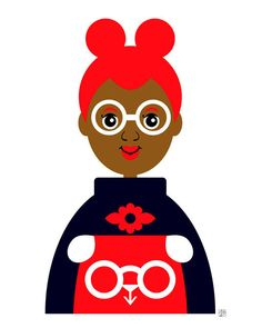 Girl 15 Futuristic Girl Illustration African American Art by Tabitha Brown