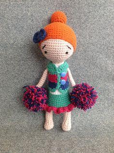 Camille - Crocheted Doll, Handmade Doll, Manuska Doll, Amigurumi Doll