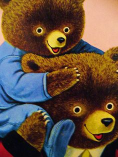 Papa and Baby Bear - illustration by Richard Scarry Richard Scarry, Children's Book Illustration, Book Illustrations, Bear Art, Vintage Children's Books, Childhood Memories, Childrens Books, Teddybear, Country Life