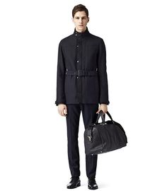 Atwood Navy Mid Length Belted Funnel Jacket #tip #tipping #tiporskip #menswear #fall #inspiration #style #forhim #gent