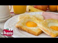 Recetas Entrantes | Receta Huevos en Canasta Healthy Breakfast Recipes, Vegetarian Recipes, Cooking Recipes, Food Humor, Food To Make, French Toast, Sandwiches, Food And Drink, Eggs