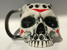 Horror Movie Characters, Horror Movies, Halloween Prop, Halloween Decorations, Jason Voorhees, Faux Taxidermy, Friday The 13th, Pottery Mugs, Anatomy