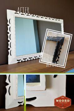 Μια παλιά κορνίζα του '70 μεταμορφώθηκε σε ένα όμορφο καθρέφτη με τεχνική παλαίωσης. #αναπαλαίωσηεπίπλων #μεταποίησηεπίπλων #μεταμόρφωσηεπίπλων #WoordArt @woord_art Furniture Makeover, Frame, Painting, Home Decor, Picture Frame, Decoration Home, Room Decor, Painting Art, Paintings