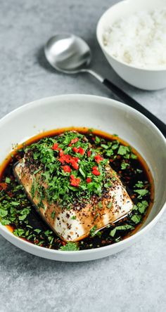 Steamed Tofu with Soy, Chillies & Sichuan Pepper | eatlittlebird.com