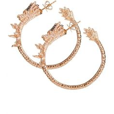 Pascale Renaux for AS29 pink gold, white diamonds and black diamonds... ($18,620) ❤ liked on Polyvore featuring jewelry, earrings, black diamond earrings, rose gold hoop earrings, black diamond jewellery, white diamond hoop earrings and rose gold earrings