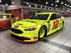 New looks for 2018 Tuesday, January 2018 Ryan Blaney: No. 12 Duracell/Menard's Ford for Team Penske Photo Credit: Photo: 20 / 64 Jeffrey Earnhardt, Weird Cars, Crazy Cars, Ryan Blaney, Nascar Race Cars, Old School Cars, Car And Driver, New Look